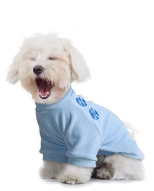 Roupa Blusa Plush Azul estilo moletom para cachorros
