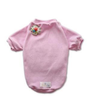 Roupa Blusa Plush Rosa estilo moletom para cachorros