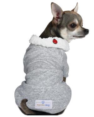 Roupa Moletom para cachorros cinza gola carneirinho – Joaninha