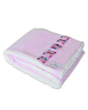 Cobertor para cachorro rosa forrado