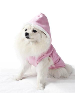 Roupa Moletom para cachorros rosa com capuz