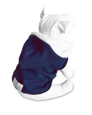 Roupa Moletom para cachorros azul com capuz