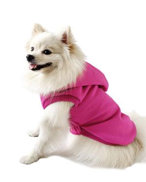 Roupa Moletom para cachorros pink com capuz