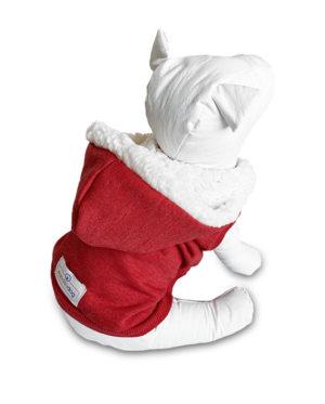 Roupa Moletom para cachorros vermelho com capuz