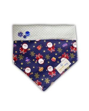 Bandana de Natal para cachorro – Papai Noel – Azul
