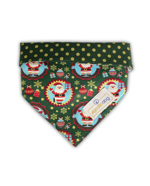 Bandana de Natal para cachorro Dupla Face – Verde