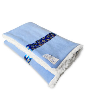 Cobertor para cachorro azul forrado